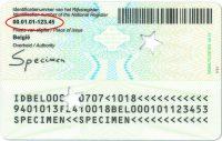 Rijksregisternummer identiteitskaart